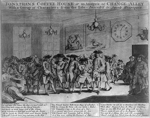 Jonathan's-Coffee-House-or-An-analysis-of-change-alley-with-a-group...-painting-artwork-print