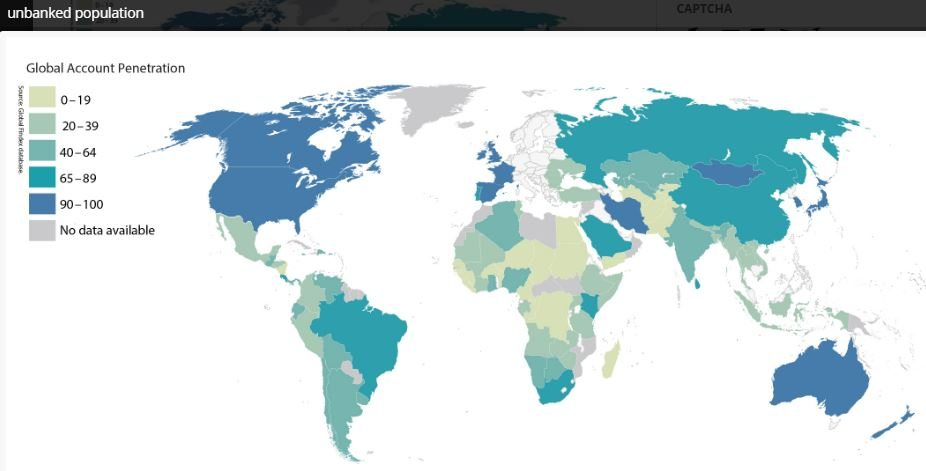 Unbanked map