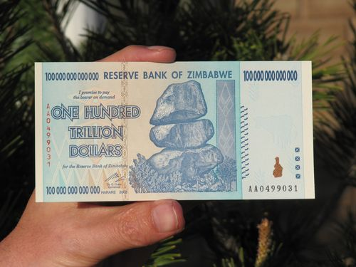 100 Trillion Dollar Note Worth Around Us 300 When Issued Dollars